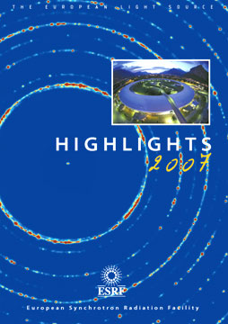Cover - ESRF Highlights 2007