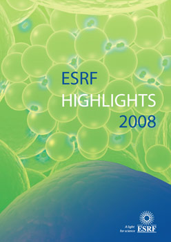 ESRF Highlights 2008 cover