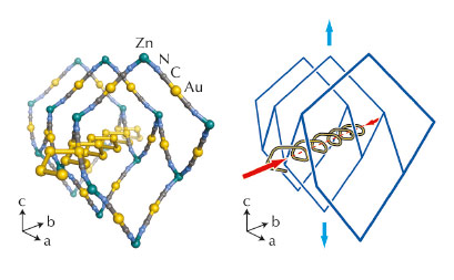 crystal structure of Zn[Au(CN)2]2