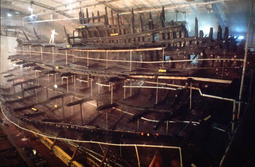 The hull of the Mary Rose. Courtesy of the Mary Rose Trust.