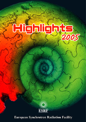 ESRF Highlights 2005 cover