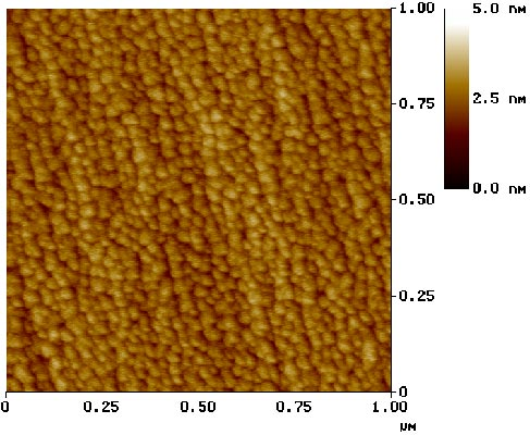 atomic force microscope image of 2–3 nm-thick pure Au islands