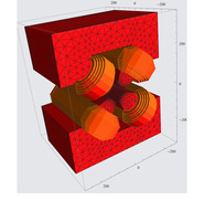 3-D model of new design, high gradient quadrupole installed at ID23. Credit image: G. Le Bec, ESRF.