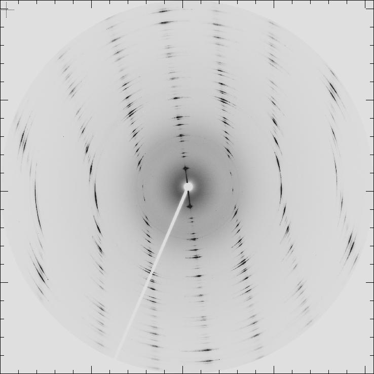 Laue diffraction image