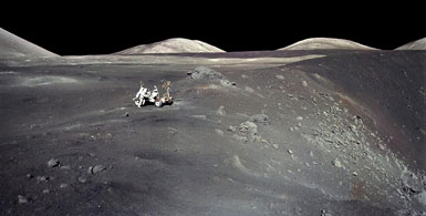 Apollo 17 at the edge of the Shorty Crater.