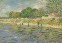 "This is a photo of ""Bank of the Seine"" (1887), one of the two paintings by Vincent van Gogh from which microsamples were taken;  Credit: Vincent van Gogh Museum, Amsterdam."