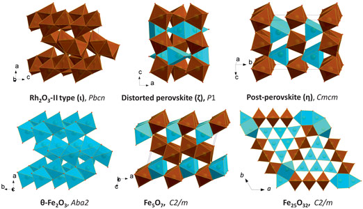 Structures of some Fe-O compounds studied in situ at high pressures by means of single-crystal XRD