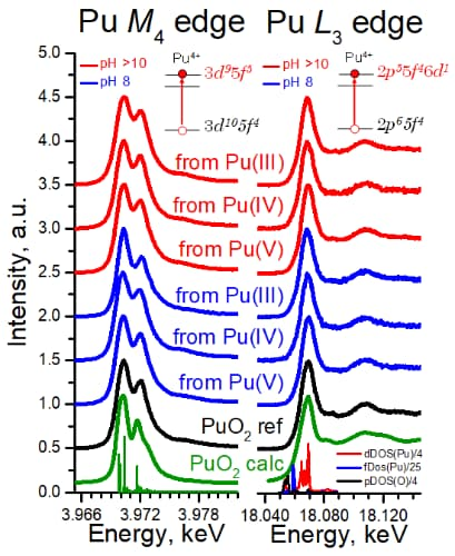 Pu M4 and L3 HERFD experimental data recorded at beamlines ID26 and BM20