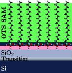 Illustration of the interface between a silicon wafer and a self-assembled octadecyltrichlorosilane monolayer.