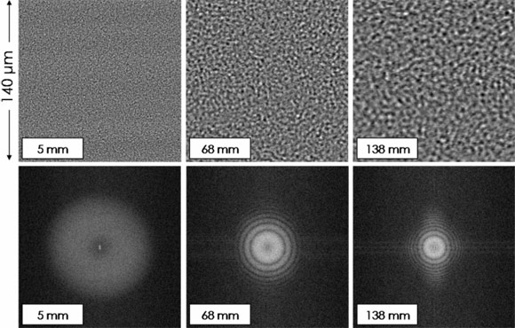Speckle patterns and power spectra generated by a colloidal suspension of silica particles