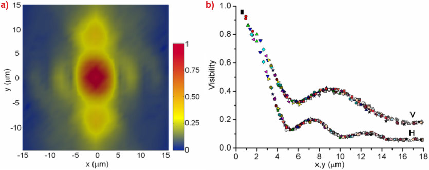 X-ray beam transverse coherence analysis using near-field scattering